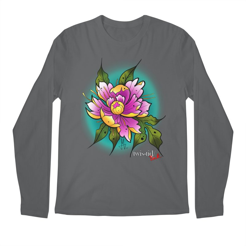 Twistid Flower yellow n pink Men's Longsleeve T-Shirt by Twistid ink's Artist Shop