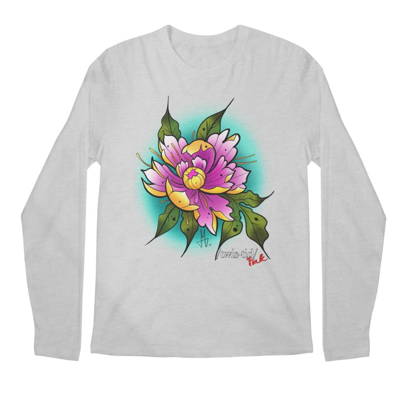 Twistid Flower yellow n pink Men's Longsleeve T-Shirt by Twistid ink's Artist Shop