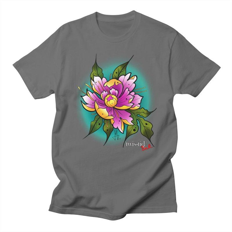 Twistid Flower yellow n pink Women's T-Shirt by Twistid ink's Artist Shop