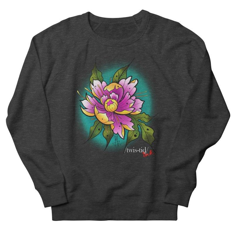 Twistid Flower yellow n pink Men's French Terry Sweatshirt by Twistid ink's Artist Shop