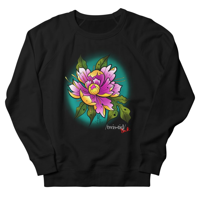 Twistid Flower yellow n pink Men's Sweatshirt by Twistid ink's Artist Shop