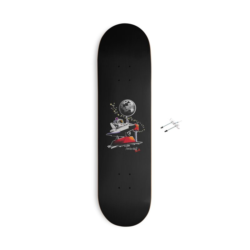 Twistid Space Accessories With Hanging Hardware Skateboard by Twistid ink's Artist Shop