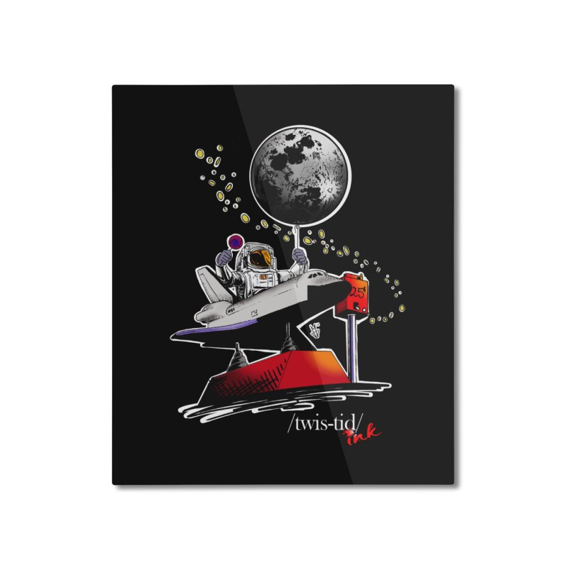 Twistid Space Home Mounted Aluminum Print by Twistid ink's Artist Shop