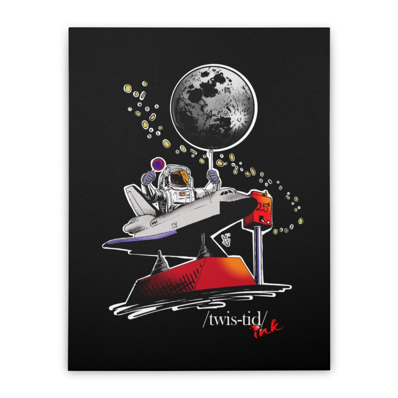 Twistid Space Home Stretched Canvas by Twistid ink's Artist Shop
