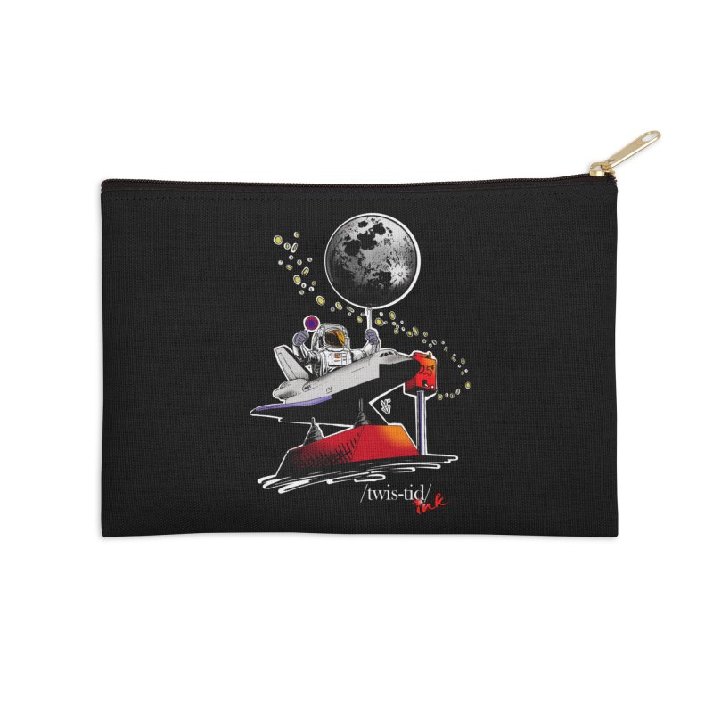 Twistid Space Accessories Zip Pouch by Twistid ink's Artist Shop