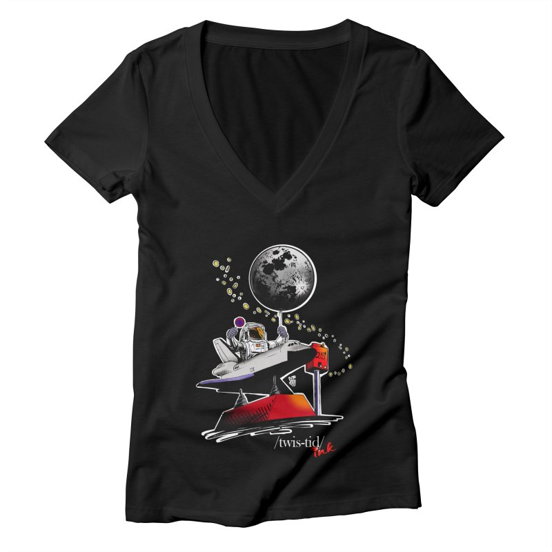 Twistid Space Women's V-Neck by Twistid ink's Artist Shop