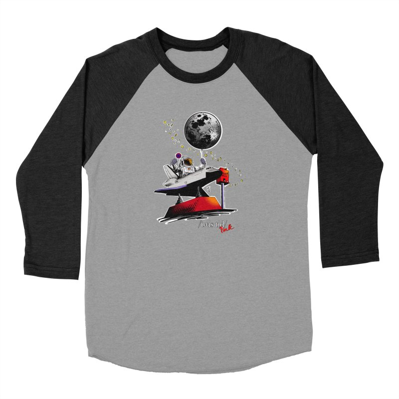 Twistid Space Men's Baseball Triblend Longsleeve T-Shirt by Twistid ink's Artist Shop