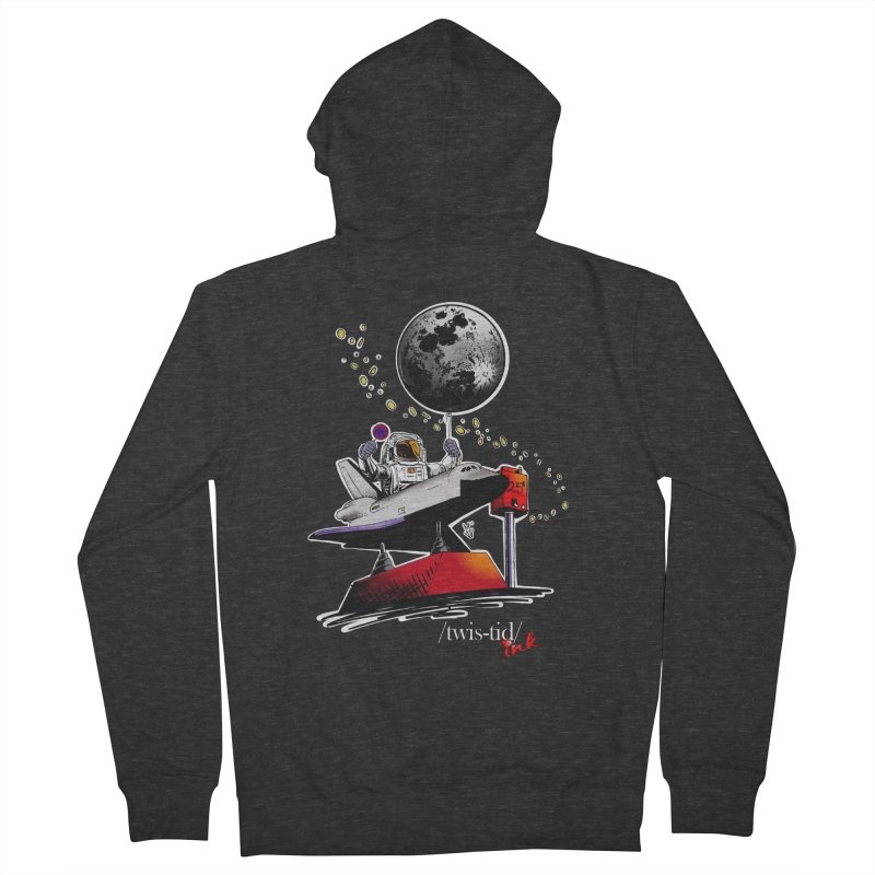 Twistid Space Men's French Terry Zip-Up Hoody by Twistid ink's Artist Shop
