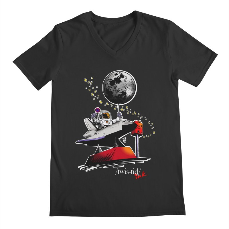 Twistid Space Men's V-Neck by Twistid ink's Artist Shop