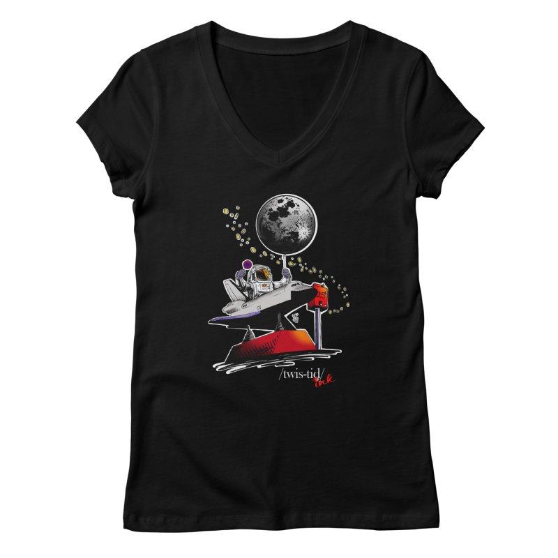 Twistid Space Women's V-Neck by Twistid ink's Artist Shop