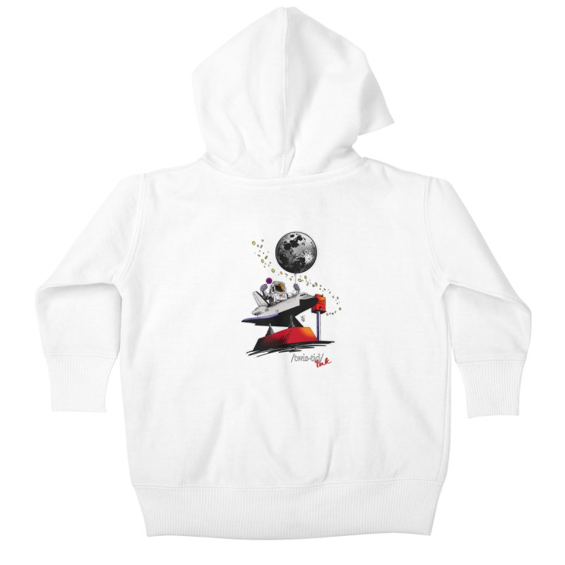 Twistid Space Kids Baby Zip-Up Hoody by Twistid ink's Artist Shop