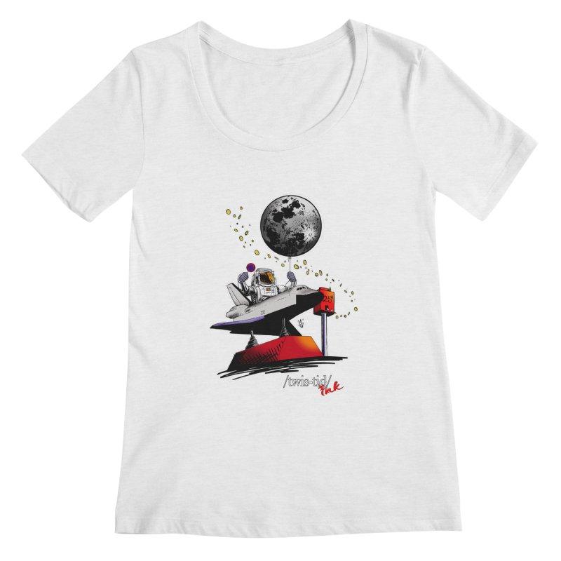 Twistid Space Women's Regular Scoop Neck by Twistid ink's Artist Shop