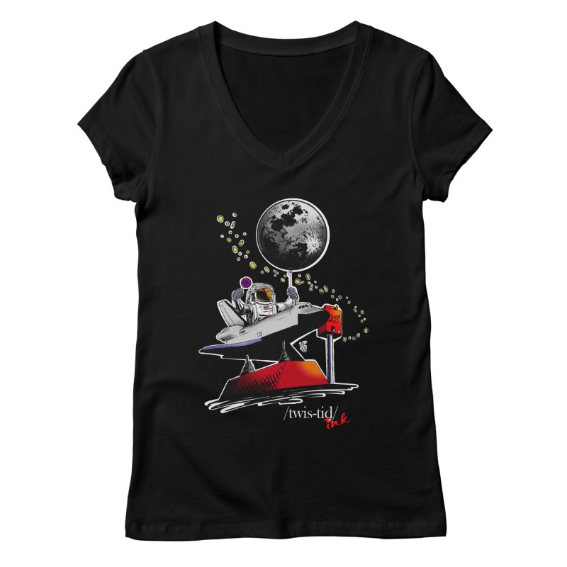 Twistid Space Women's Regular V-Neck by Twistid ink's Artist Shop