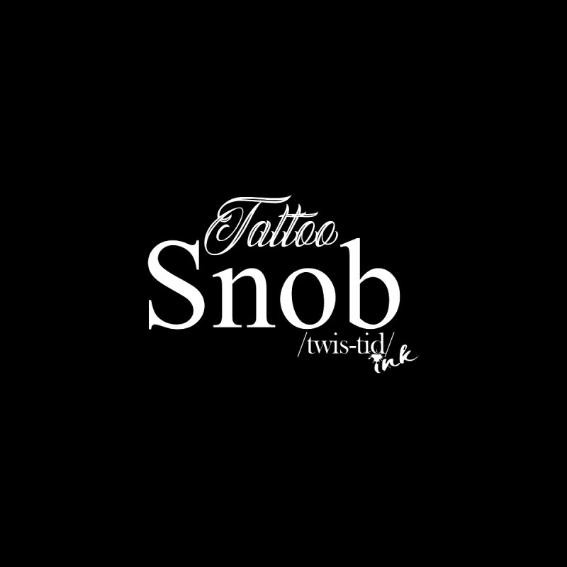 Tattoo snob Home Stretched Canvas by Twistid ink's Artist Shop