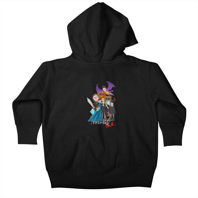 Twistid characters team Kids Baby Zip-Up Hoody by Twistid ink's Artist Shop
