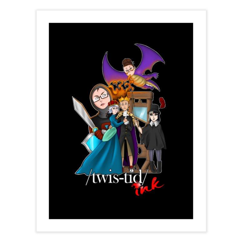 Twistid characters team Home Fine Art Print by Twistid ink's Artist Shop