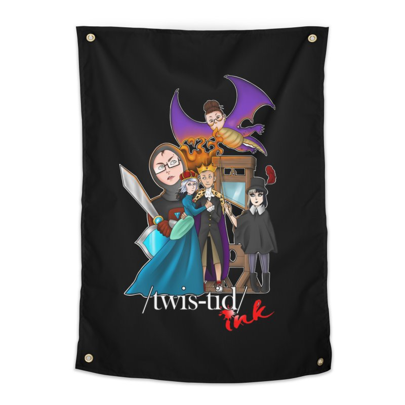 Twistid characters team Home Tapestry by Twistid ink's Artist Shop