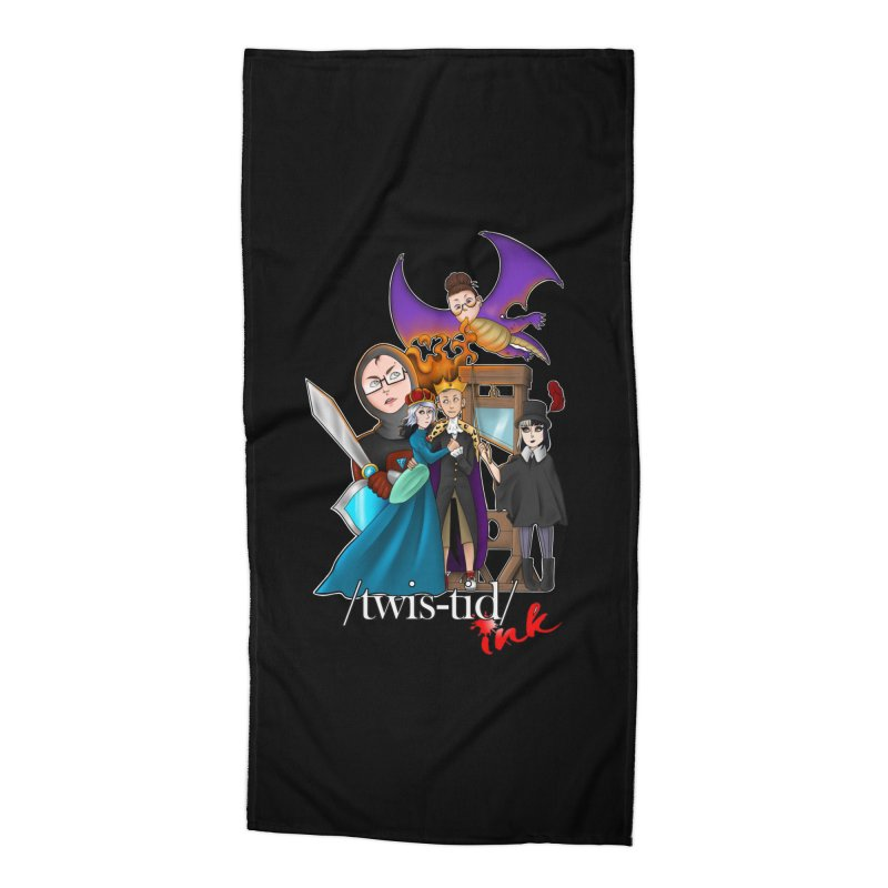 Twistid characters team Accessories Beach Towel by Twistid ink's Artist Shop