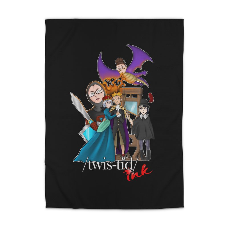 Twistid characters team Home Rug by Twistid ink's Artist Shop