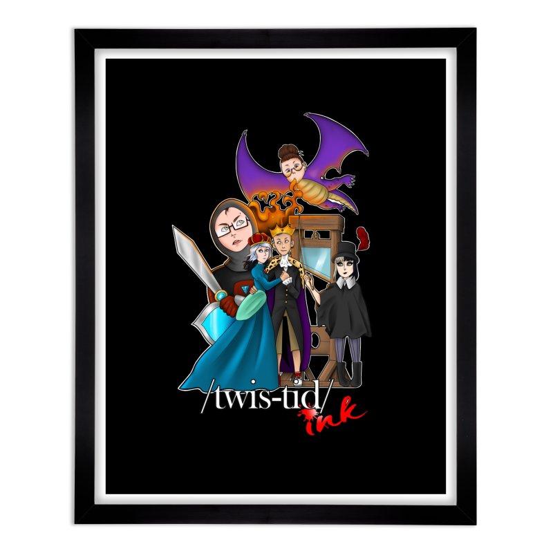 Twistid characters team Home Framed Fine Art Print by Twistid ink's Artist Shop