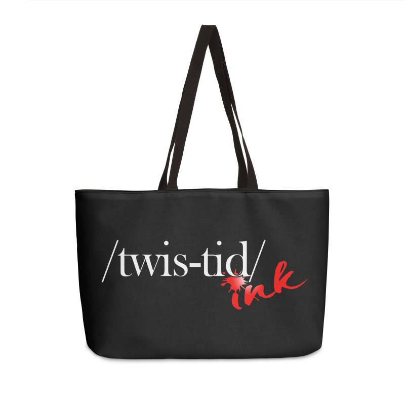 Twistid Ink logo Accessories Weekender Bag Bag by Twistid ink's Artist Shop