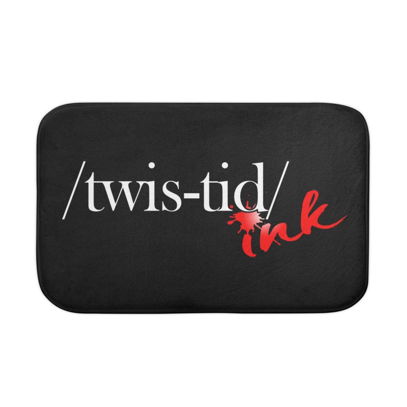 Twistid Ink logo Home Bath Mat by Twistid ink's Artist Shop