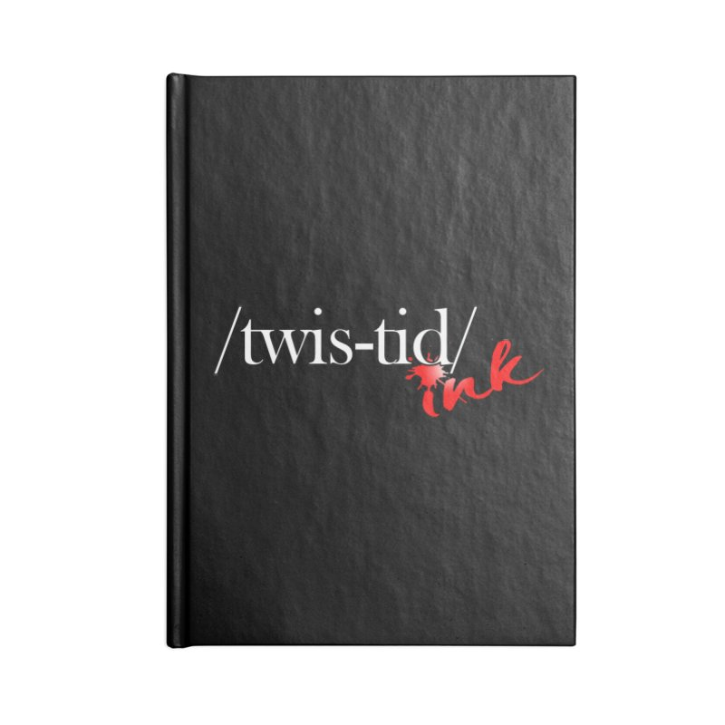 Twistid Ink logo Accessories Blank Journal Notebook by Twistid ink's Artist Shop
