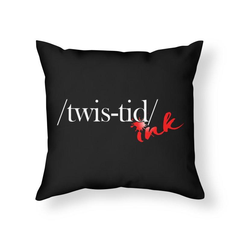 Twistid Ink logo Home Throw Pillow by Twistid ink's Artist Shop