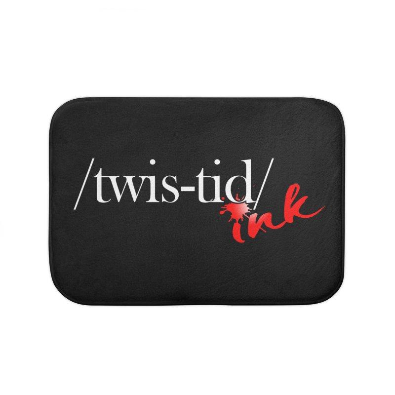 Twistid Ink logo Home Bath Mat by Twistid ink's Artist Shop
