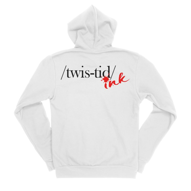 Twistid Ink blk & red Women's Zip-Up Hoody by Twistid ink's Artist Shop
