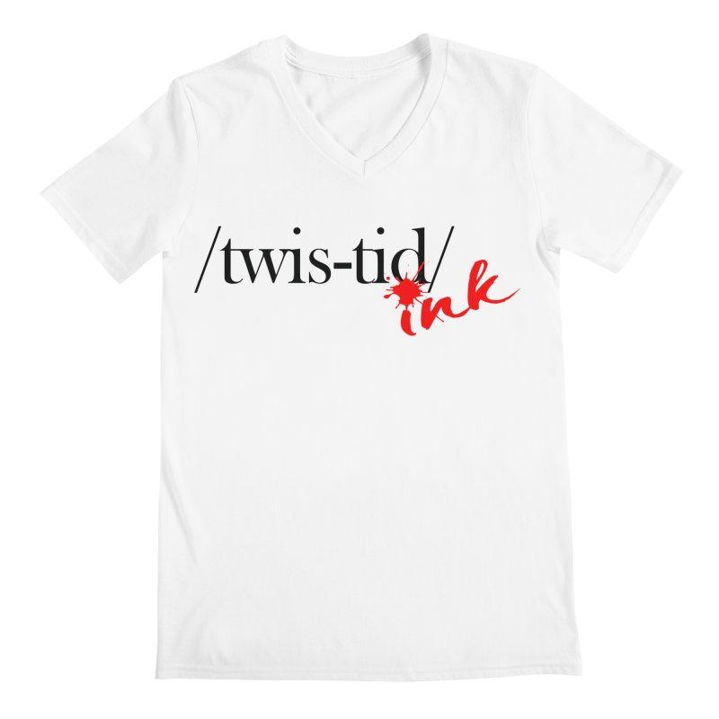 Twistid Ink blk & red Men's Regular V-Neck by Twistid ink's Artist Shop