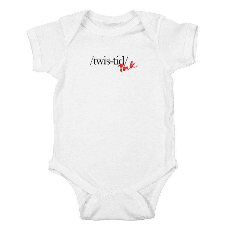 Twistid Ink blk & red Kids Baby Bodysuit by Twistid ink's Artist Shop