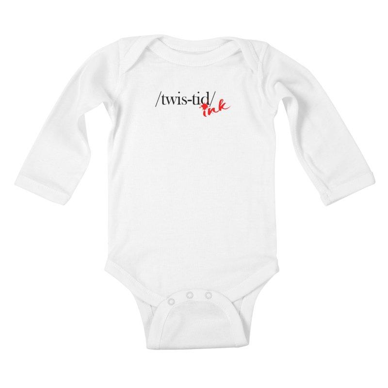 Twistid Ink blk & red Kids Baby Longsleeve Bodysuit by Twistid ink's Artist Shop