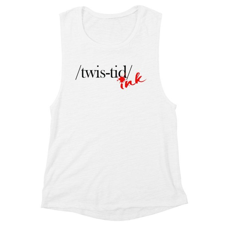 Twistid Ink blk & red Women's Tank by Twistid ink's Artist Shop