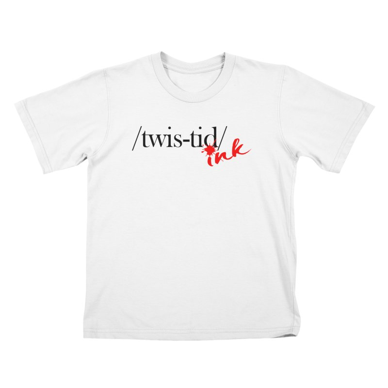 Twistid Ink blk & red Kids T-Shirt by Twistid ink's Artist Shop
