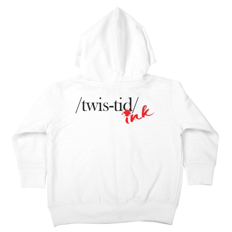 Twistid Ink blk & red Kids Toddler Zip-Up Hoody by Twistid ink's Artist Shop