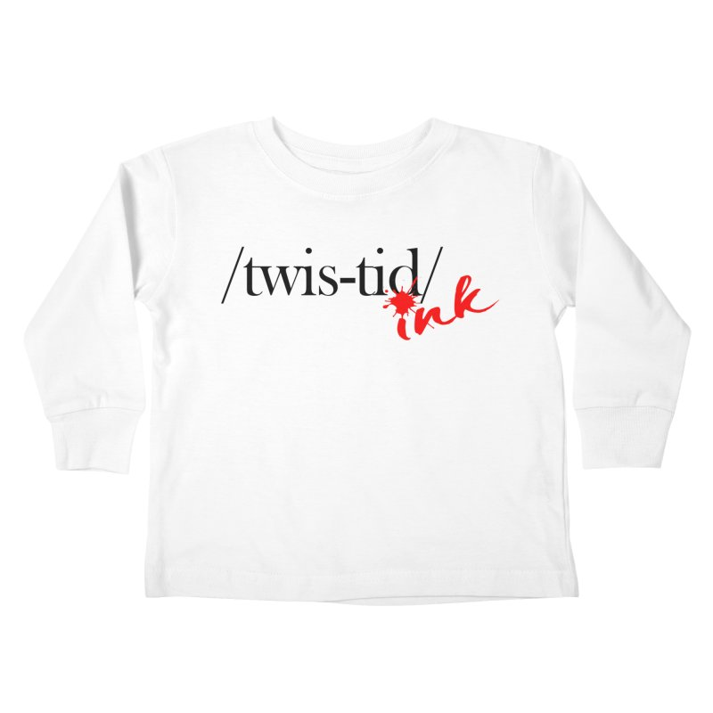 Twistid Ink blk & red Kids Toddler Longsleeve T-Shirt by Twistid ink's Artist Shop