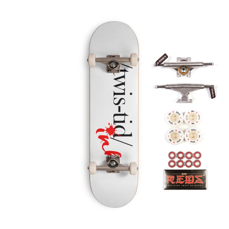 Twistid Ink blk & red Accessories Complete - Pro Skateboard by Twistid ink's Artist Shop