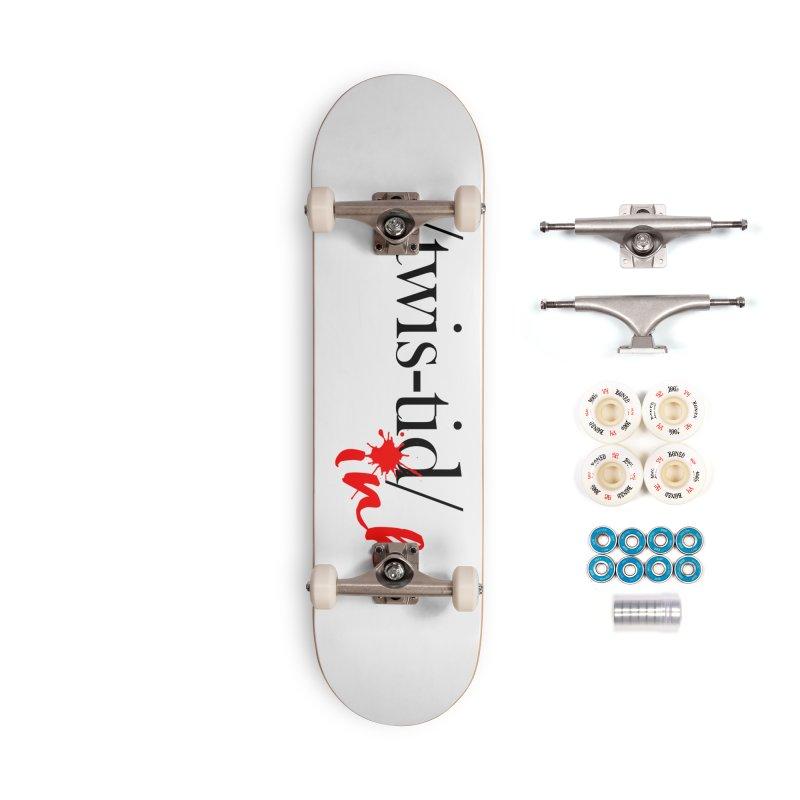 Twistid Ink blk & red Accessories Skateboard by Twistid ink's Artist Shop