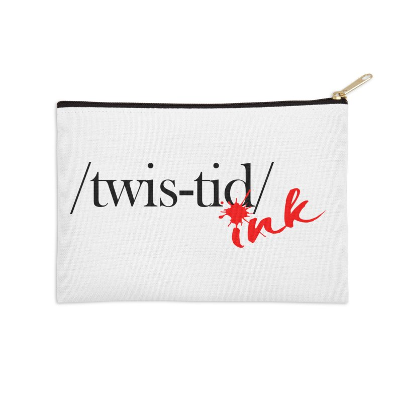 Twistid Ink blk & red Accessories Zip Pouch by Twistid ink's Artist Shop