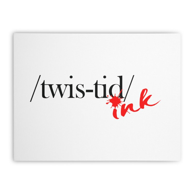 Twistid Ink blk & red Home Stretched Canvas by Twistid ink's Artist Shop