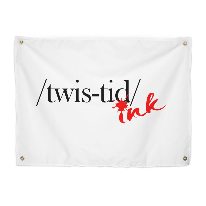 Twistid Ink blk & red Home Tapestry by Twistid ink's Artist Shop