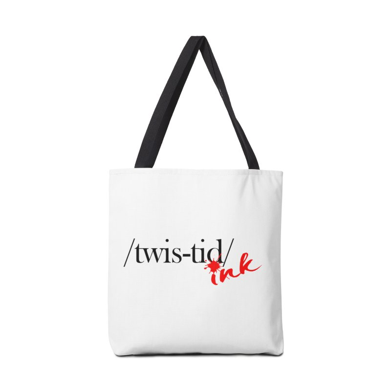 Twistid Ink blk & red Accessories Bag by Twistid ink's Artist Shop