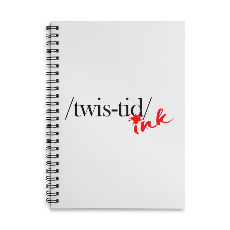 Twistid Ink blk & red Accessories Notebook by Twistid ink's Artist Shop