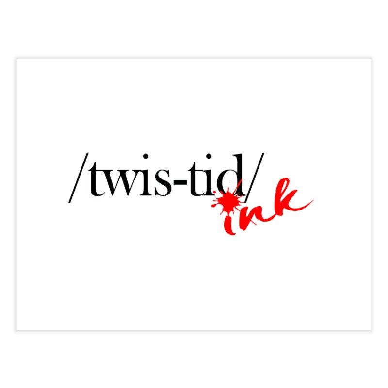 Twistid Ink blk & red Home Fine Art Print by Twistid ink's Artist Shop