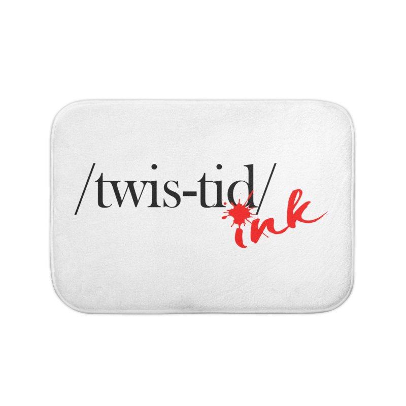 Twistid Ink blk & red Home Bath Mat by Twistid ink's Artist Shop