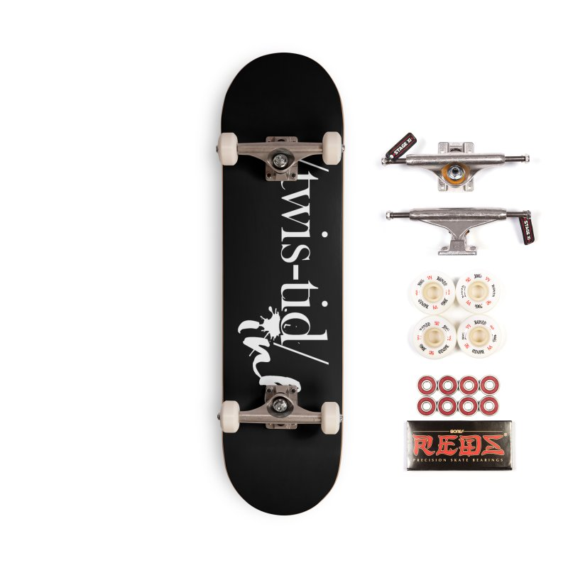 Twistid Ink White Accessories Complete - Pro Skateboard by Twistid ink's Artist Shop