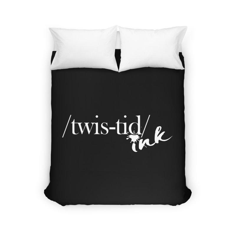 Twistid Ink White Home Duvet by Twistid ink's Artist Shop