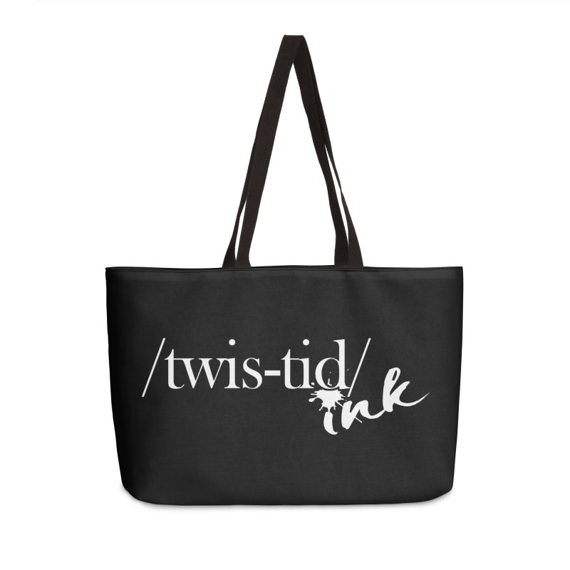 Twistid Ink White Accessories Weekender Bag Bag by Twistid ink's Artist Shop