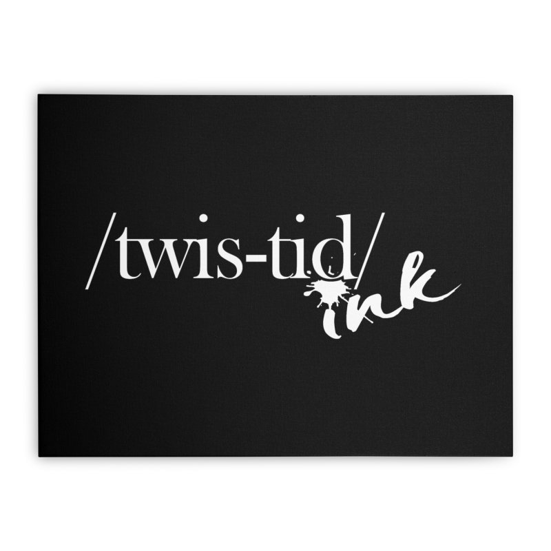 Twistid Ink White Home Stretched Canvas by Twistid ink's Artist Shop